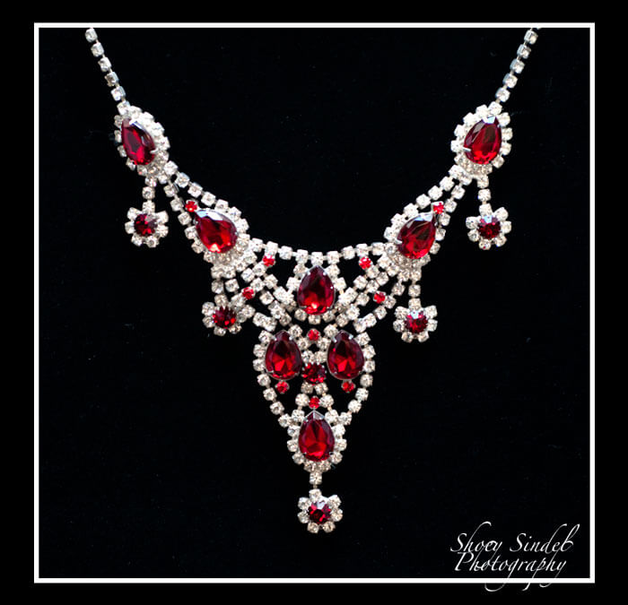 Red and White Princess Necklace